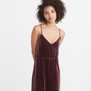 MIDI velvet slip dress